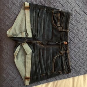 Dark denim jean shorts